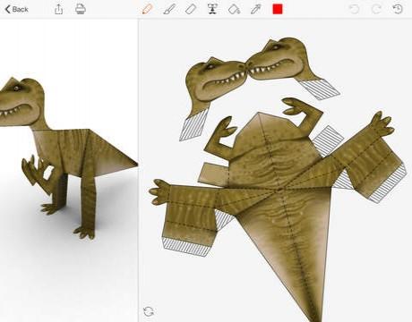 恐龙简化手绘图片
