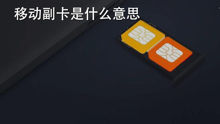 移动副卡是什么意思
