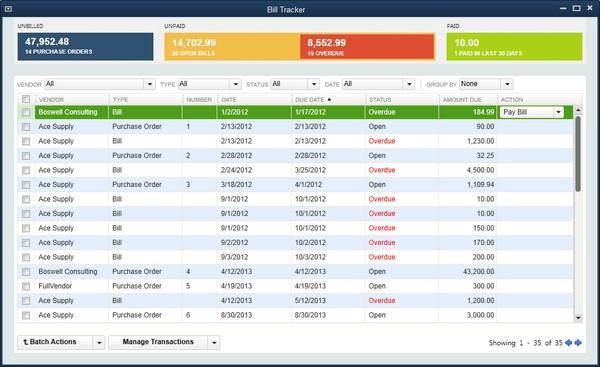 Quickbooks(财务管理软件)