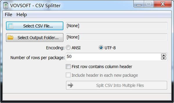 Vovsoft CSV Splitter(CSV文件分割工具)