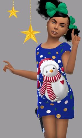 模拟人生4小女孩卡通雪人服装MOD下载 --pc6下载站