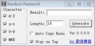 Random Password(随机密码生成工具)