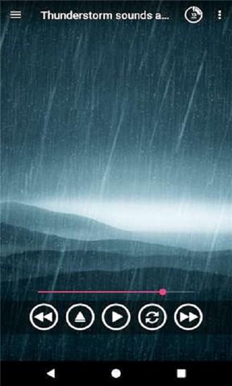 雷雨声响起
