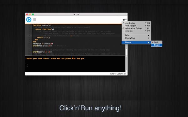 Run Lua Mac版
