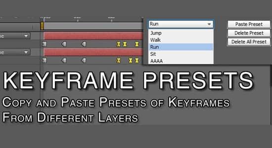 Keyframe Presets(为多层创建关键帧预设AE插件)