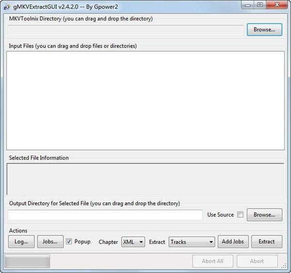 gMKVExtractGUI(mkv提取软件)