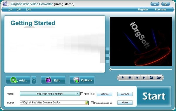 iOrgSoft iPod Video Converter(iPod��l�D�Q器)