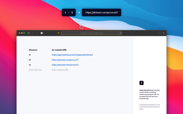 Search Bar Shortcuts Mac版