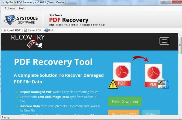 SysTools PDF Recovery(PDF修复软件)