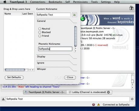 TeamSpeak for Mac