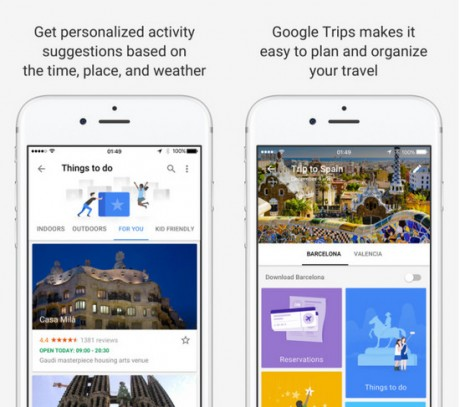 Google Trips app下载